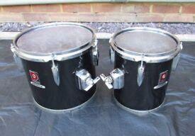 PREMIER ROYALE Vintage Concert Tom Drum Pair 8 x 9 & 10 x 9 extra deep shell