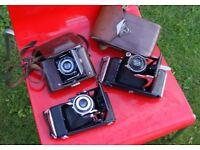 Zeiss Ikon, 3 Vintage camera's analoge