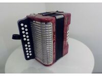 Hohner Double Ray Accordion/Melodeon B/C Tuning and in tune. Lovely instrument ready to play.