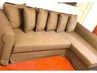 ikea corner sofa bed pink ikea corner sofabed brown colour with storageikea moheda good condition stain corner sofa bed sofa bed futons for sale gumtree