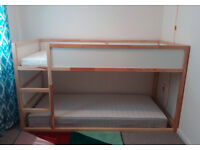 IKEA - KURA loft bed with 2 As New (used 3 times) IKEA Mattresses +Tent - Very Clean! No Smoke/pets!