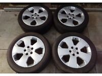 VAUXHALL VECTRA-C SIGNUM GSI 17 INCH ALLOY WHEELS WITH GOOD TYRES