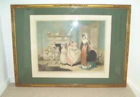 A 1922 Colour Mezzotint - The Romps by Sydney E Wilson / William Redmore Bigg. £175.00
