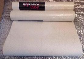 3 rolls of super fresco easy skeleton leaf wallpaper