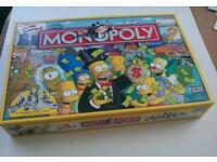 THE SIMPSONS MONOPOLY COMPLETE IN EXCELLENT CONDITION AS SHOWN.