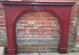 FIRE SURROUND ROSEWOOD FINISH WOOD - Excellent Condition