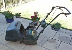 Atco Petrol Commodore B17 Self Propelled Cylinder Lawn Mower with Atco Grass Box.