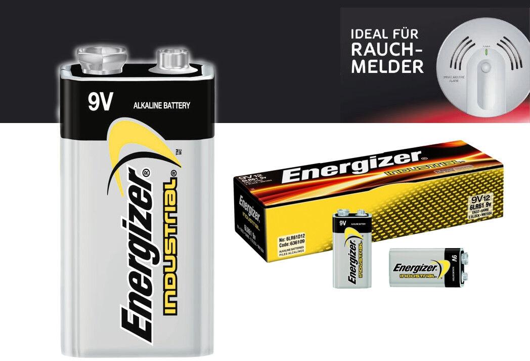 12x Energizer Alkaline 6LR619V E-Block für Rauchmelder Smoke Detector Max