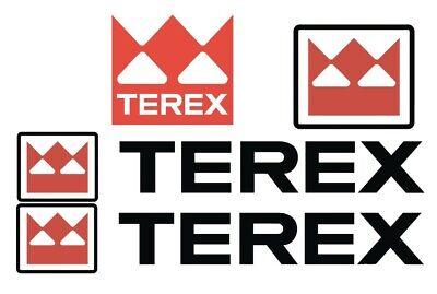 Terex Bucket Truck Decal Sticker - Kit Set Boom Lift Emblem Extendo Scissor