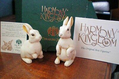 Harmony Kingdom Adam Binder Antony & Cleopatra Rabbits Marble Resin UK Made NIB
