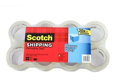 Scotch Heavy Duty Shipping Packaging Tape 1.88 Inches X 54.6 Yards 8-count