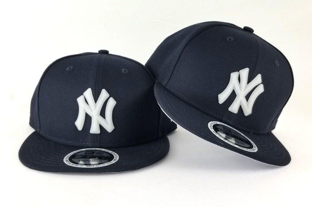 size 40 5d842 6e651 New Era MLB Navy Blue New York Yankee Glow in the Dark Badge 9Fifty  Snapback Hat