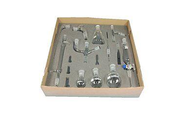 Deluxe Organic Chemistry Glassware Kit 16 Piece Chem Lab Basic Set Condenser