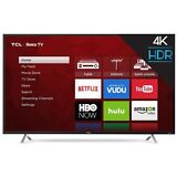 "TCL 55"" Smart 4K TV w/ Clear Motion 120, 3HDMI/1USB Ports & Built-in Wifi, Black"