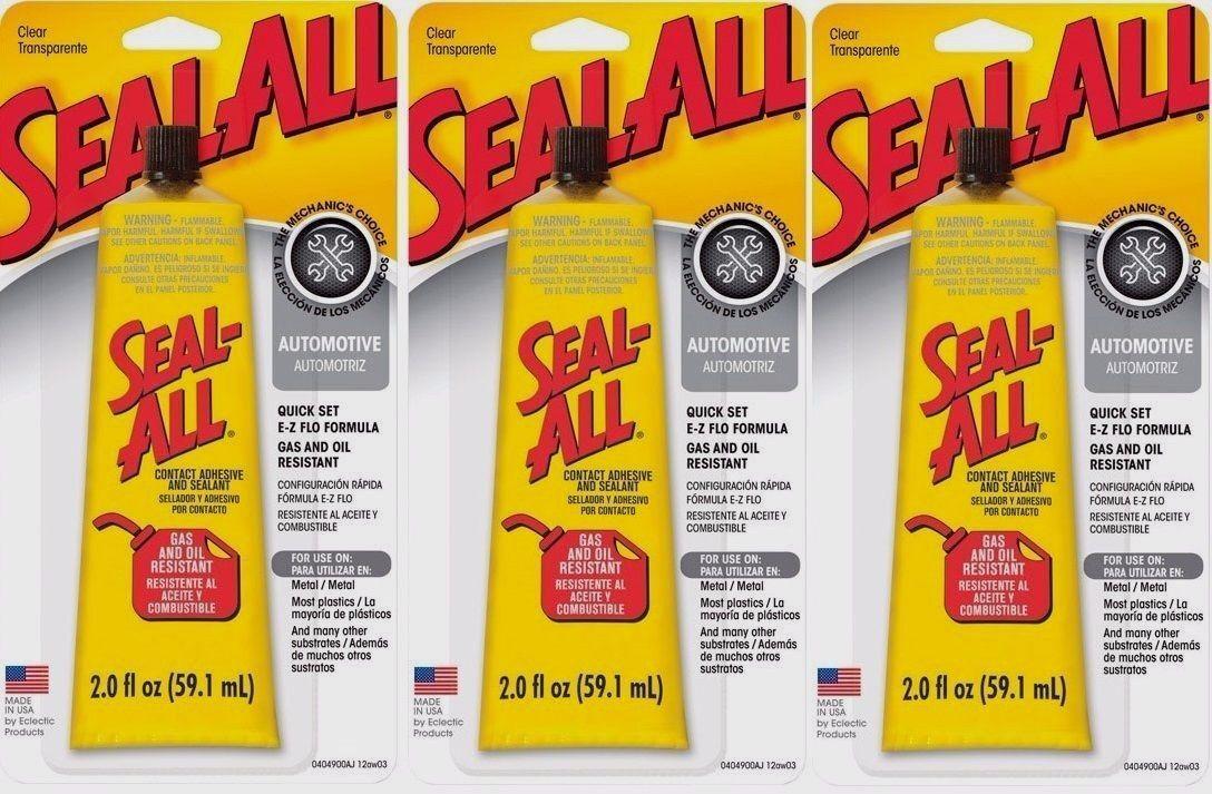 3 SEAL ALL 2oz Automotive Garage Contact Adhesive Sealant Glue CLEAR High Strgth Adhesives, Sealants & Tapes