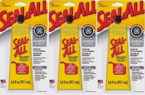 3 SEAL ALL 2oz Automotive Garage Contact Adhesive Sealant Glue CLEAR High Strgth
