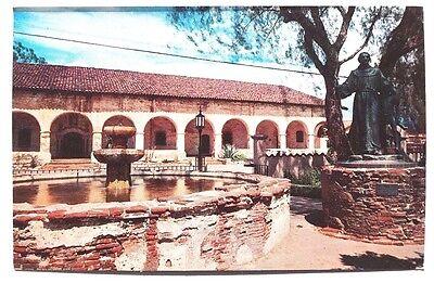 Vintage 1960's SAN FERNANDO MISSION CALIFORNIA Father Serra  Photo Postcard