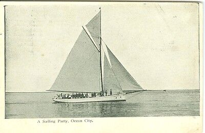 Ocean City MD A 1911 Sailing Party Under Sail (Party City Maryland)