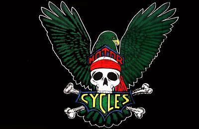 EAGLE WINGS SKULL MOTORCYCL 3X5 FLAG BIKIERS 3 x 5 biker cross bones banner #31