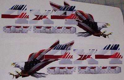 4x4 Off Road American Flag Eagle PAIR Chevy Power 2500 3500 F250 F150 F350 Wagon