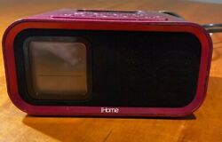 Pink iHome IH22 Alarm Clock Speaker System for iPod/iPhone with 30 Pin Connector