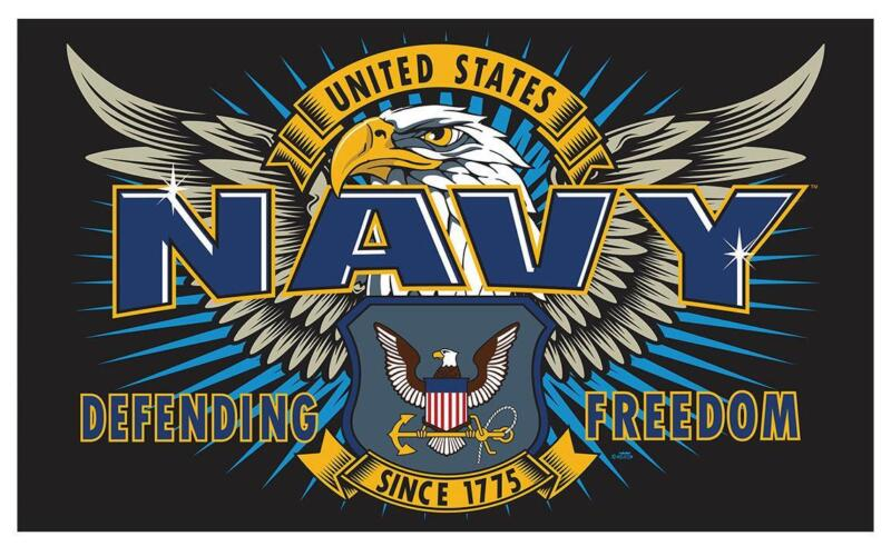 NAVY FIRST MISSION  3 X 5 military DELUXE FLAG #668 new polyester 3x5 banner NEW
