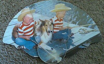 Vintage Channel 8 Wgal Tv  Advertising Folding Fan Fishing Buddies 8676 Litho