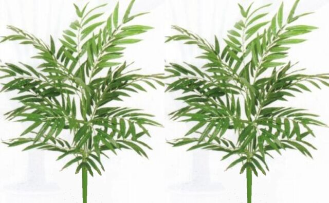 2 Palm 3 Artificial Silk Arrangement Tree Plant Floral Phoenix Areca Sago Date