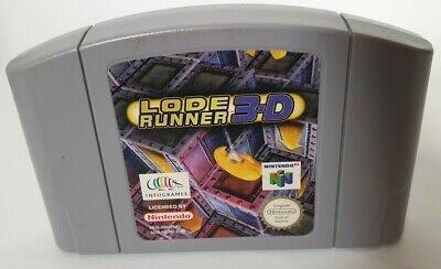 Nintendo N64 game LODE RUNNER 3D ~ CART ONLY