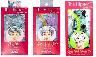 Betty Dain MALIBU / SPLASH OF GOLD / HIPPIE CHICK Shower Cap  --  FREE SHIPPING! (Hippie Chick)