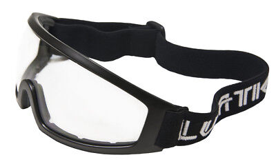 Lunatic Motorcycle Riding Glasses / Goggles Adult - Black - Clear, Single Lens ()