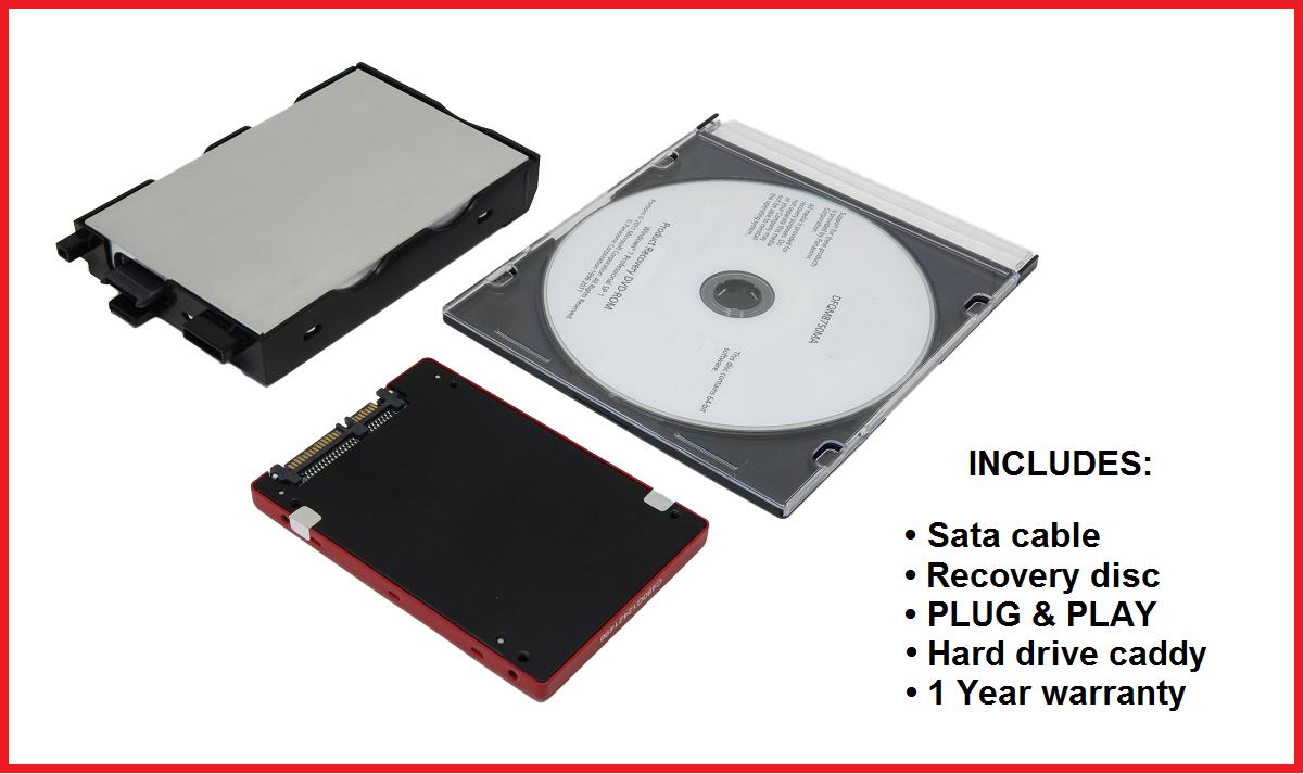 Hard Drive • Caddy • Disc: Panasonic Toughbook CF-52 • Win XP or 7 • Sata or SSD