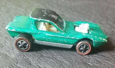 1968 100% Original Hot Wheels Redline Green Python Hong Kong