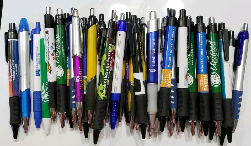 50  NEW MISPRINTED FAT THICK INK PENS FREE SHIP IN USA