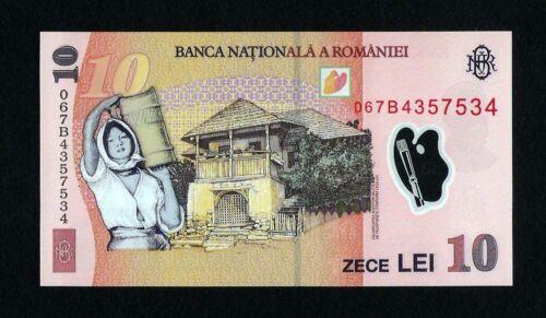 Romania 10 Lei 2005 ( 2006 ) Radar Serial 4357534 polymer banknote. Uncirculated