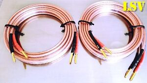 NEW Van Damme Hi-Fi Series LC-OFC 2x6mm Speaker Cables 2x2m -Terminated