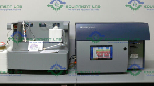 BD FACSCanto Flow Cytometer w/ Fluidics Station Cart & Software  Mfg: 2005