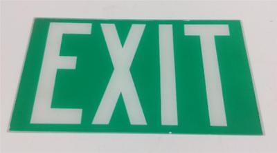 Glass Exit Sign Green E08005