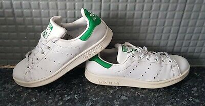 Adidas Stan Smith White Leather Trainers Size Uk 5.5