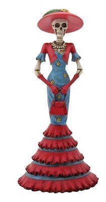 Lady Isabela Skeleton Wearing Dress Day of the Dead Dia de Los Muertos Figurine