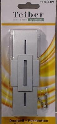 New Craftmade Stacked Rectangles LED Illuminated Doorbell Push Button TB1040-BN - Modern Illuminated Doorbell Button