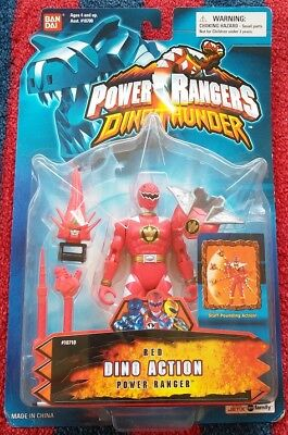 (Power Rangers Dino Thunder Action Red Ranger Action Figure NeW Original Package)
