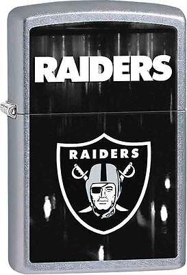 Zippo Street Chrome Lighter With Oakland Raiders Logo, 28605, New In Box