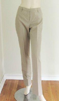 $500 New PRADA Khaki Silk Pants Sz.42 Made In Italy