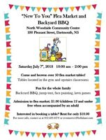 """""""New To You"""" Flea Market and Backyard BBQ **BOOK YOUR TABLE NOW!"""