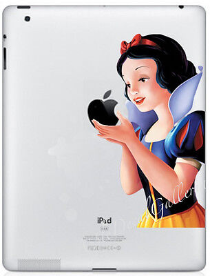 Snow White Apple iPad 1 2 3 4 Air Decal Sticker Skin Decals Cover SWIPAD