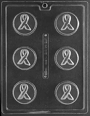 AWARENESS RIBBON COOKIE Chocolate Candy Soap mold breast any cancer oreo brain