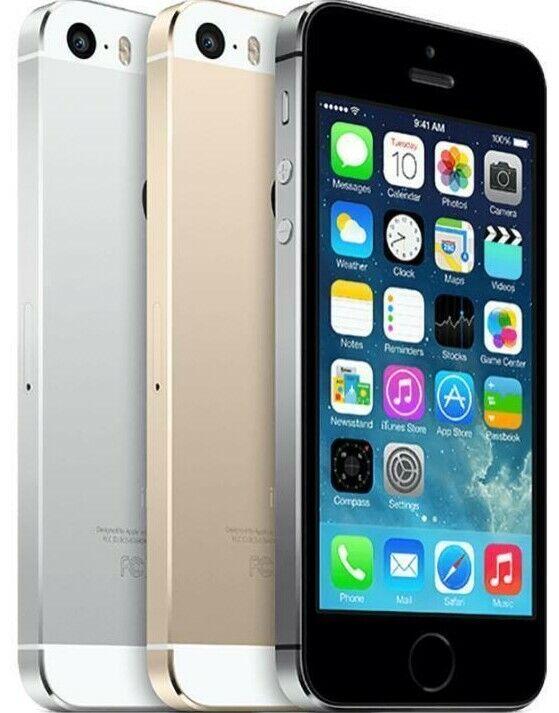 1 von 6 : Apple iPhone 5S - Unlocked - 16GB 32GB 64GB - Gold Gray Silver - Smartphone • 70,66 €