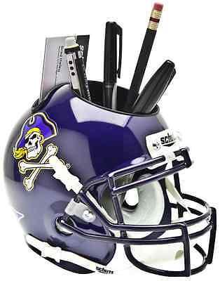 EAST CAROLINA PIRATES NCAA Schutt Mini Football Helmet DESK CADDY ()