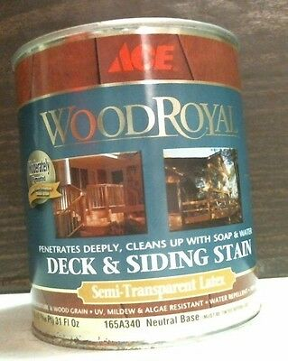 - Ace 24885 Wood Royal Deck & Siding Stain Semi-Transparent Latex 31 Oz. FREE SHIP